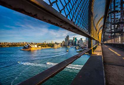 Opera de Sydney depuis Harbour Bridge
